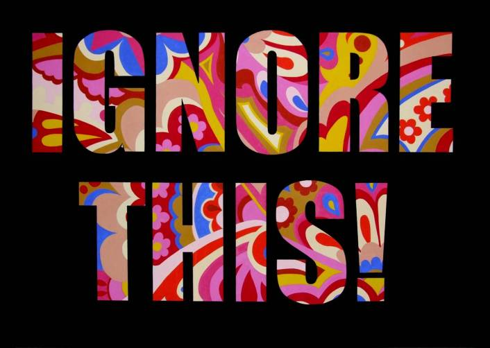 Ignore This. Mark L'Argent - Lettering Artist