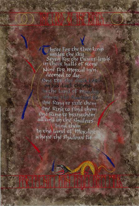 Lord Of The Rings. Mark L'Argent - Lettering Artist