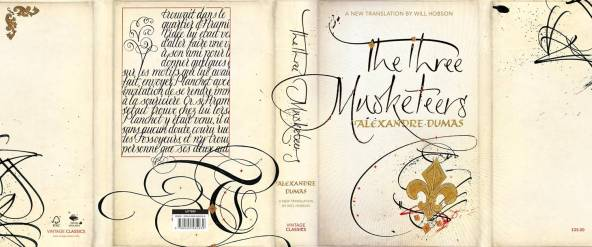 3 Musketeers Dust Jacket. Mark L'Argent - Lettering Artist